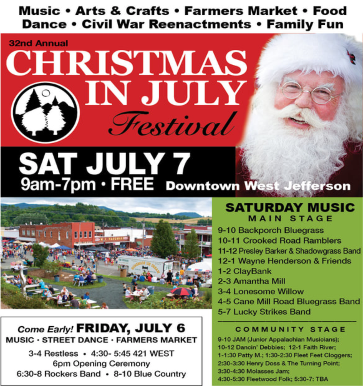 Christmas in July Festival, West Jefferson, NC   THIS WEEKEND!